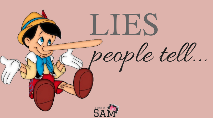 Lies people tell