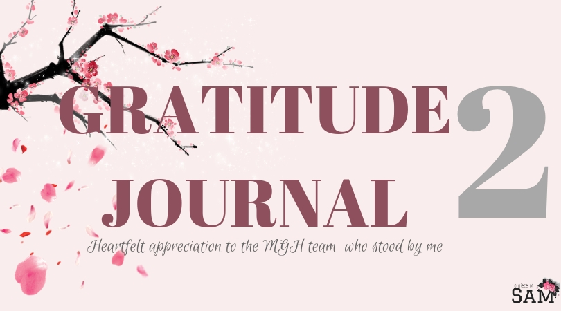 Gratitude Journal 2 -Appreciation to the medical team who stood by me through my treatment